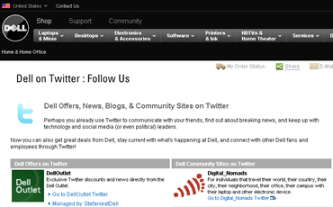 Dell tiene más de 30 cuentas corporativas en Twitter