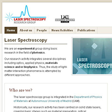 Laser Spectroscopy Research Group - 2mdc